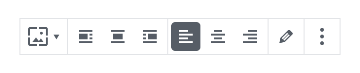 Toolbar component composed of attached IconButtons