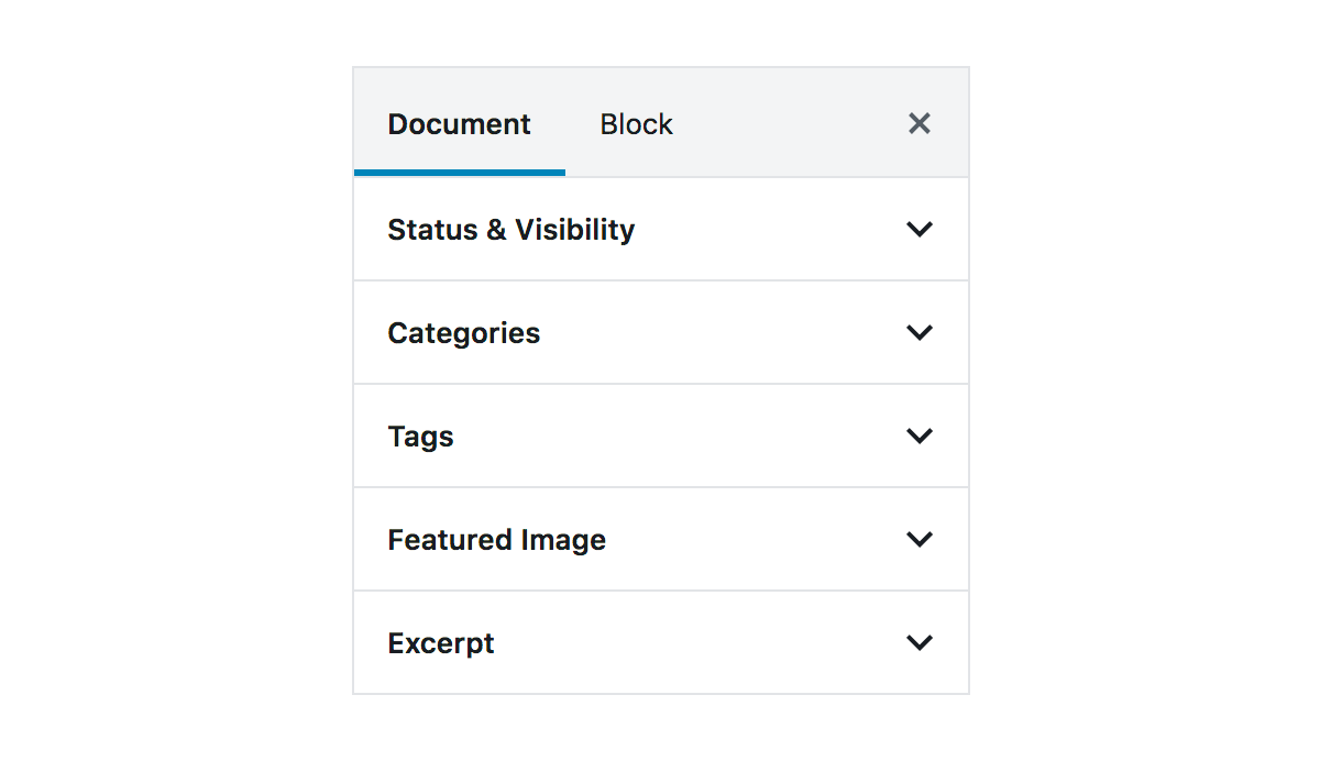 "The ""Document"" tab selected in the sidebar TabPanel."