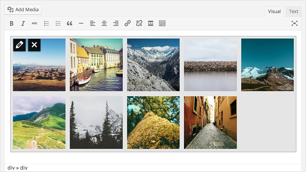 gallery preview - WordPress 3.9 Beta 1