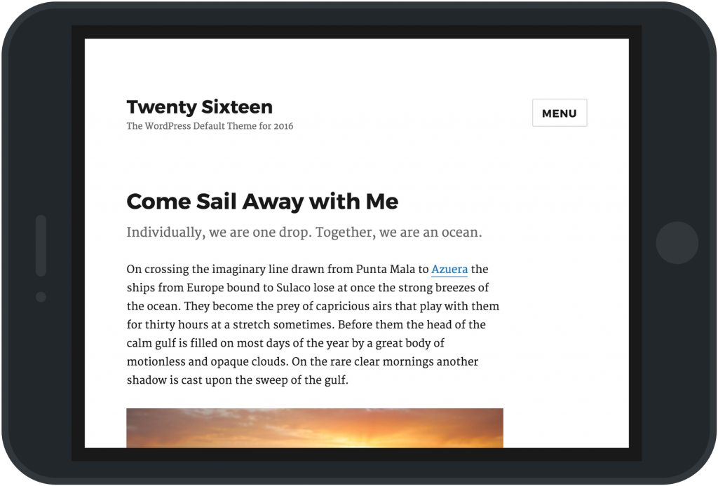 WordPress Twenty Sixteen Theme