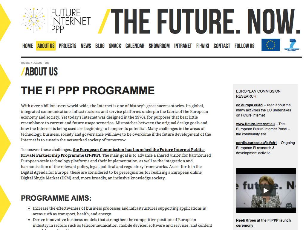 Future Internet Public-Private Partnership Programme
