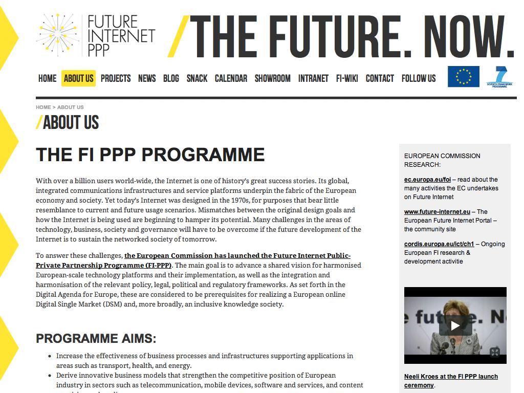 Future Internet Public-Private Partnership Programme