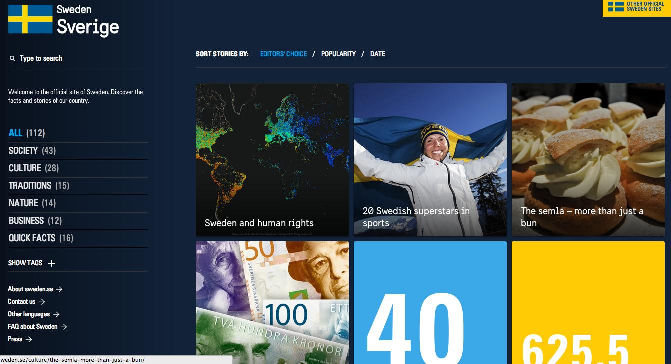 Sweden's Official Site