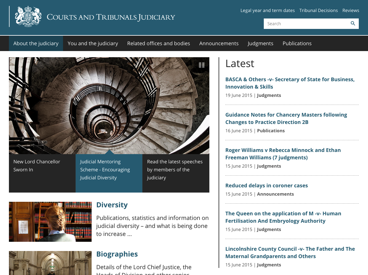 Courts and Tribunals Judiciary of England and Wales