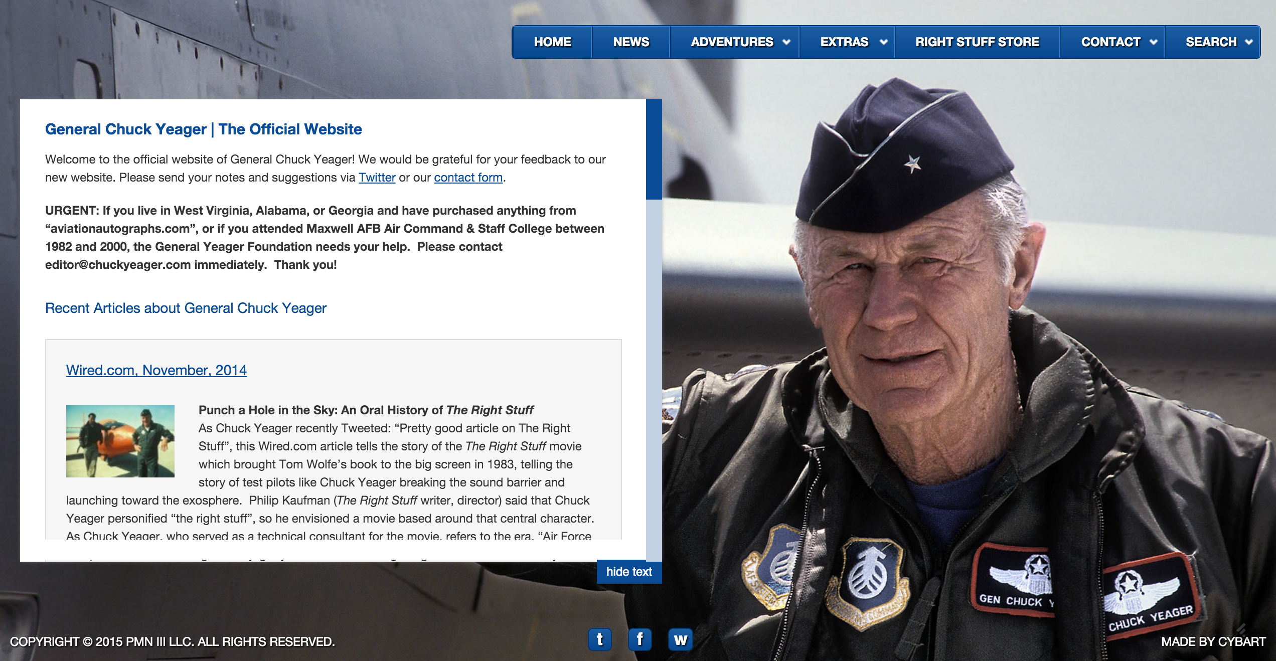 US Air Force General Chuck Yeager