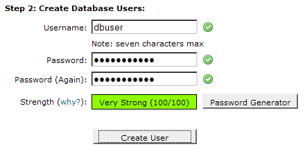 Step 2. Create Database Users