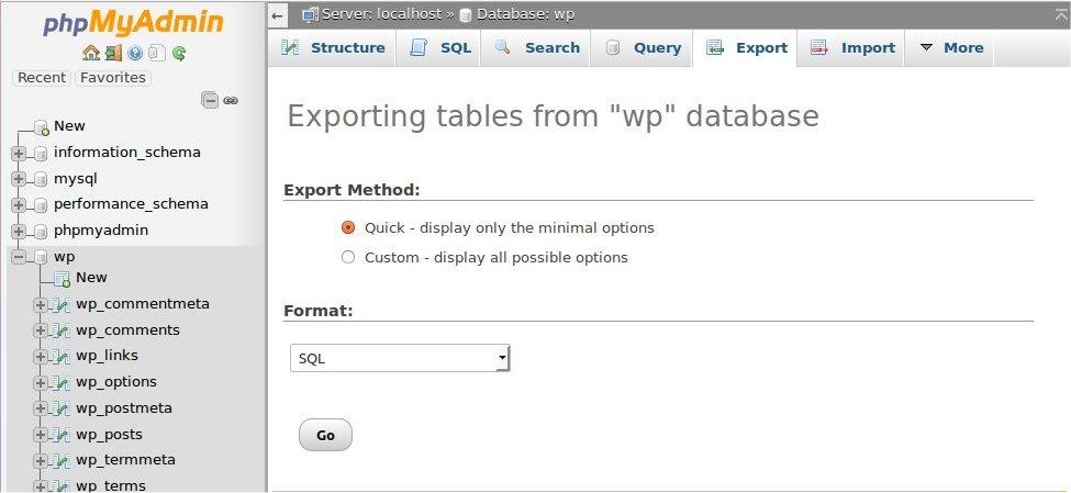 phpmyadmin_quick_export
