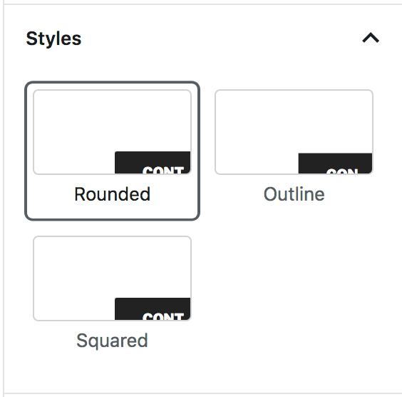 Block Button Styles Tab
