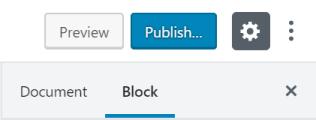 Block Settings