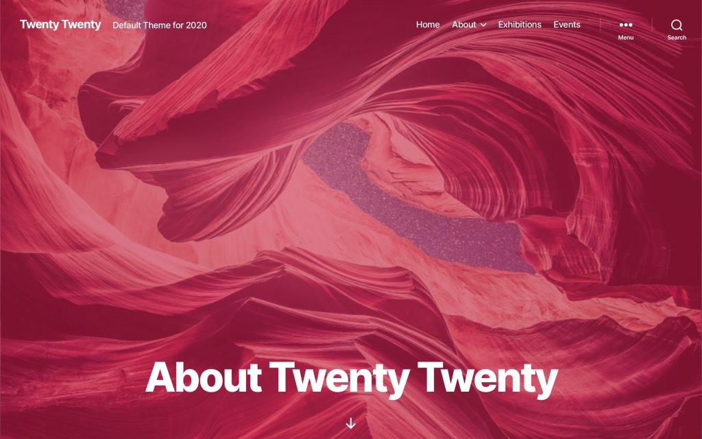 The Cover Template in Twenty Twenty