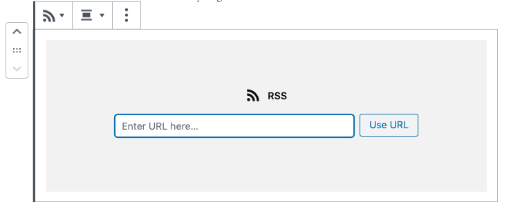 Embed Place Holder for RSS block