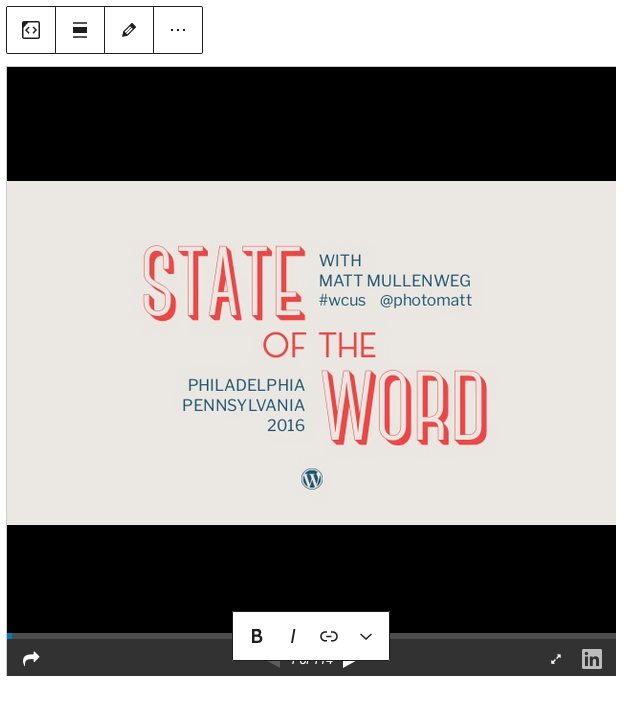 Example of slideshare with toolbar